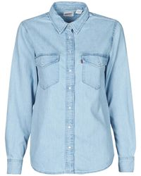 Levi's Overhemd Levis Essential Western - Blauw