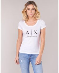 Armani Exchange Camiseta HELIAK - Blanco