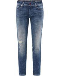 Salsa Jeans Push Up Wonder Capri à trous 123762 Jeans - Bleu