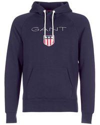 GANT Sweater Shield Sweat Hoodie - Blauw