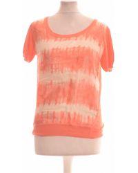 Sandro Top Manches Courtes 38 - T2 - M T-shirt - Orange