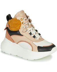 Bronx Hoge Sneakers Grayson Mid - Naturel