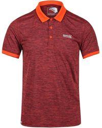 Regatta Polo Polo Remex II en jersey à manches courtes pour hommes - Orange