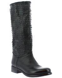 Leonardo Shoes Laarzen K310 Kiri Nero - Zwart