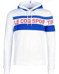 Le Coq Sportif Hoodie Met Logoprint - Wit