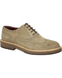 Leonardo Shoes Zapatos Hombre 852-17 CAMOSCIO FANGO - Neutro
