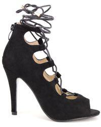 Cendriyon Sandales Noir Chaussures Femme Sandales