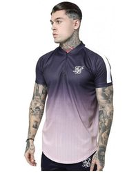 SIKSILK T-shirt Baseball SS-14952 - Bleu