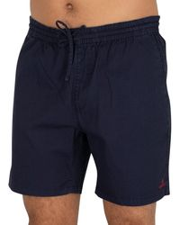 GANT Short à logo avec cordon de serrage Short - Bleu