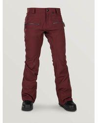 Volcom Pantalon Wo Leo9.0 Stretch Snowboard Pant - Rouge