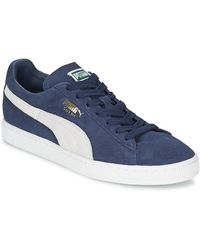 PUMA Lage Sneakers Suede Classic - Blauw