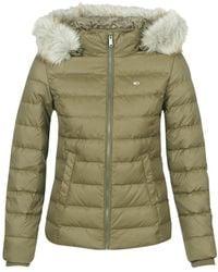 Tommy Hilfiger Donsjas Tjw Essential Hooded Down Jacket - Groen