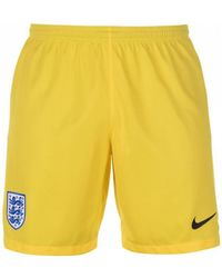 Nike - 2018-2019 England Home Goalkeeper Shorts Women's Shorts In Yellow - Lyst