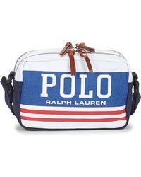 Polo Ralph Lauren Heuptas Big Polo Xbd-crossbody-cotton - Blauw