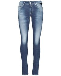 Replay Jeans skinny HYPERFLEX LUZ - Bleu