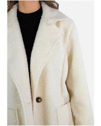 Kebello Manteau molletonné double boutonnage Taille : F Blanc S Manteau