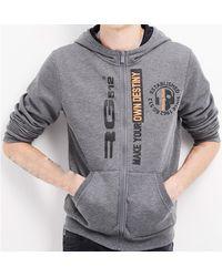 Rg 512 Zipped Hoodie Men's Sweatshirt In Grey - Gray