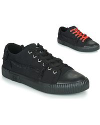 T.U.K. Lage Sneakers Rubber Toe Roughcut Sneaker Canvas - Zwart