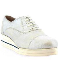 Leonardo Shoes D030-69 Pixel Grigio Casual Shoes - Metallic