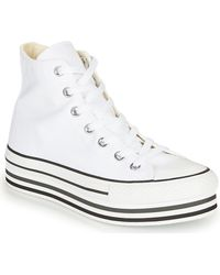 Converse Hoge Sneakers Chuck Taylor All Star Platform Eva Layer Canvas Hi - Wit