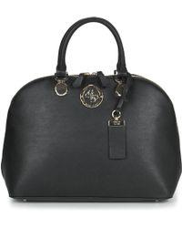 Guess Landon Dome Satchel Women's Handbags In Black