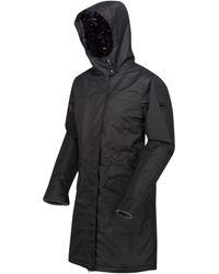 Regatta Rimona Waterproof Insulated Hooded Parka Jacket Black Coat
