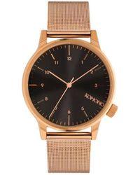 Komono Horloge Winston Royale Rose Gold - Black - Metallic