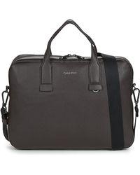 Calvin Klein Aktetas Warmth Laptop Bag W/pckt - Bruin