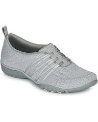 Skechers Lage Sneakers Breathe-easy Approachable - Grijs