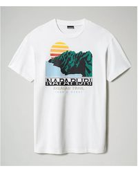 Napapijri Camiseta S-ALHOA - NP0A4F5M - Blanco