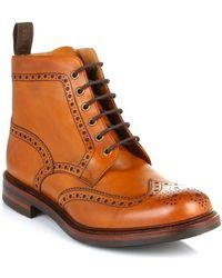 Loake Mens Tan Bedale Leather Brogue Boots hommes Boots en Marron