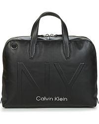 Calvin Klein Dokumententasche / Aktentasche SHAPED LAPTOP BAG - Schwarz