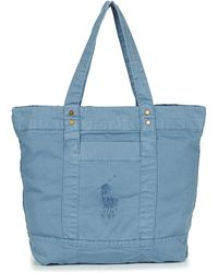 Polo Ralph Lauren Boodschappentas Pp Tote Sunfaded Chino - Blauw