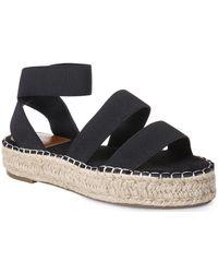 La Modeuse Espadrilles Espadrille-sandale à brides élastiques noires