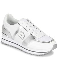 Karl Lagerfeld Lage Sneakers Velocita Ii Maison Karl Lo Lace - Wit