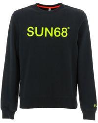 Sun68 F31110 sweat-shirts Noir Sweat-shirt