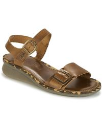 Fly London - Comb Women's Sandals In Brown - Lyst