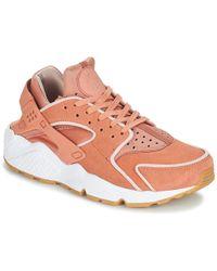 66d56511f7b2d Nike - Air Huarache Run Premium W Women s Shoes (trainers) In Pink - Lyst