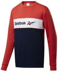 Reebok Sweat-shirt Classics Linear Crew - Rouge