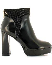 Byblos Blu - 6670f6 Ankle Boots Women Black Women's Mid Boots In Black - Lyst