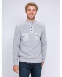 Ritchie Pull col montant boutonné LOGANI Pull - Gris