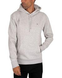 Tommy Hilfiger Sweat-shirt Sweat à capuche en molleton régulier - Gris