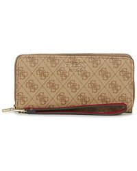 Guess VIKKY SLG LARGE ZIP AROUND Portefeuille - Neutre
