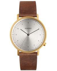 Komono Horloge - Lewis Saddle Brown - Metallic