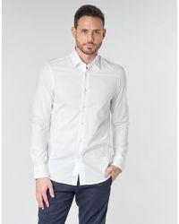 G-Star RAW Camicia A Maniche Lunghe Dressed Super Slim Shirt Ls - Bianco