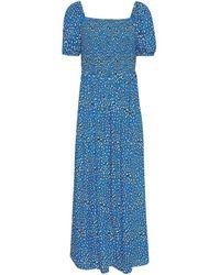Tommy Hilfiger TJW LEO PRINT MAXI SMOCK DRESS Robe - Bleu