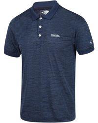 Regatta Polo Polo Remex II en jersey à manches courtes pour hommes - Bleu