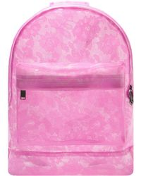 Mi-Pac - Mi-pac Transparent Lace Backpack - Pink Women's Backpack In Pink - Lyst