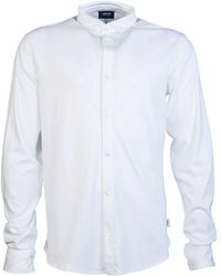 Armani Jeans - Shirt 3y6c92 6jprz Men's Long Sleeved Shirt In White - Lyst