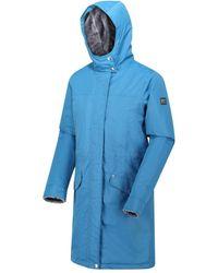 Regatta Rimona Waterproof Insulated Hooded Parka Jacket Blue Coat